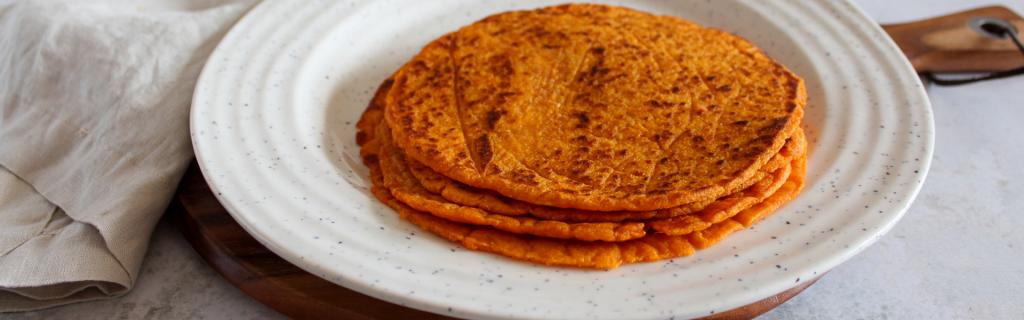 New Recipe: Three Ingredient Sweet Potato Tortillas