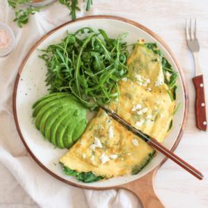 New Recipe: Spinach & Feta Omelette