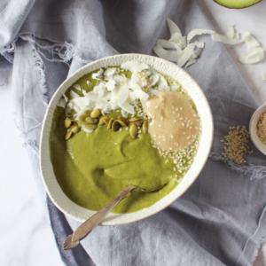 New Recipe: Green Tahini Smoothie Bowl
