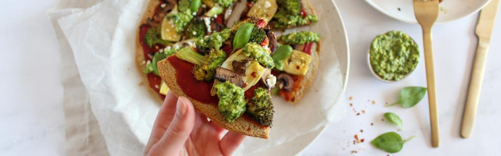 New Recipe: Super Green Pesto Pizza
