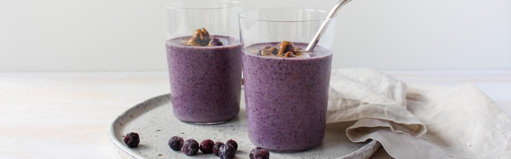 New Recipe: Skin Loving Blueberry Smoothie