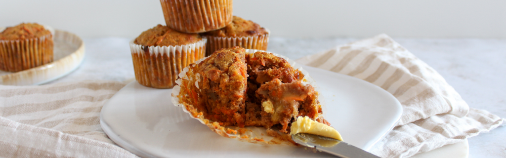 New Recipe: SIBO Friendly Spiced Carrot Cake Muffins