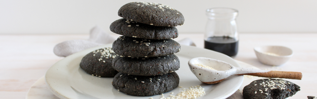New Recipe: Black Tahini Cookies