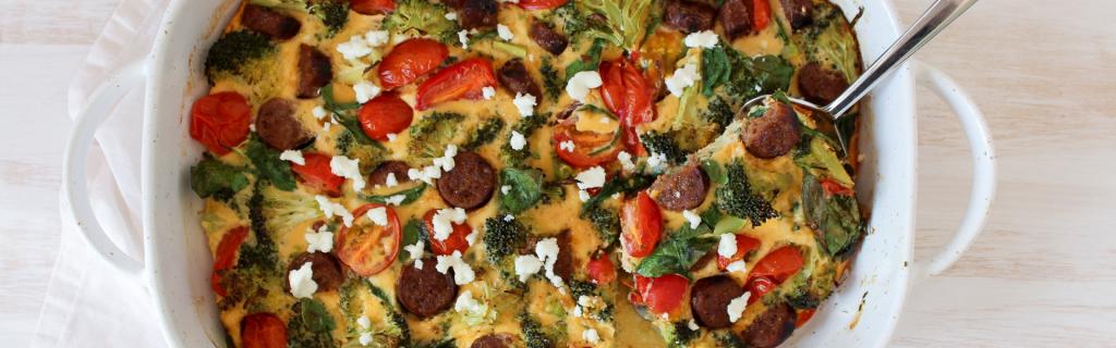 New Recipe: Sausage & Broccoli Frittata