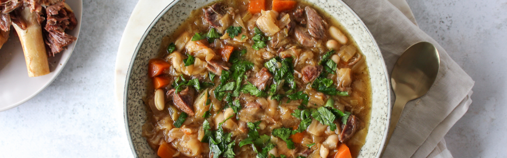 New Recipe: Slow Cooked Lamb, Cabbage & White Bean Soup